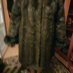 Voi vinde o haină naturală de blană