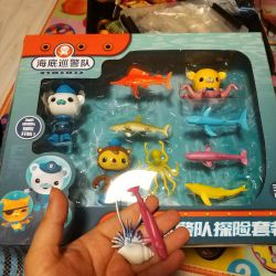 Octonauts and fish. Rubber