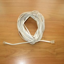 Uzatma kablosu telefon 10 m beyaz