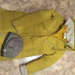 Women's coat, hat, mittens