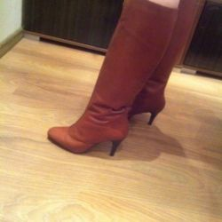 Demi-season boots real leather