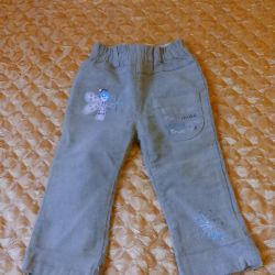 Trousers corduroy 92 times-p, for a girl (no bargaining)