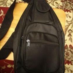 New bag (backpack) through one shoulder