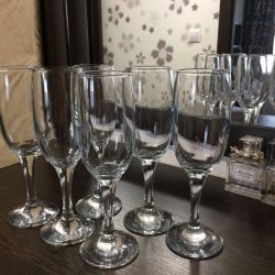 Wine glasses (set of 6 pieces), the exchange is possible