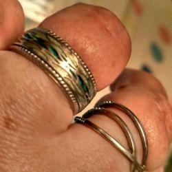 ACİL gümüş yüzük, emr 18 rr