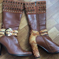 Δερμάτινες / Σουέντ μπότες