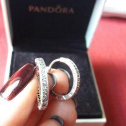 Серьги-кольца Pandora