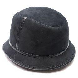 Pălărie Panama blană bărbătească iarnă (negru)