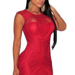Rochie, culoare roșie. Art. 22325 en-gros / vânzare cu amănuntul