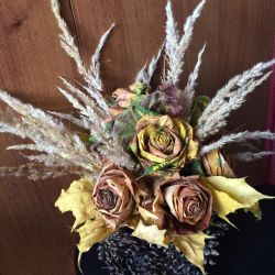 Bouquet autumn. Craftwork