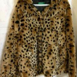 Jachetă de blană de la ecomome pentru fete