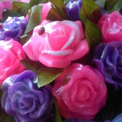 Bouquet of roses from soap