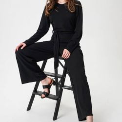 Knitted jumpsuit with cotton