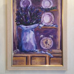 Picture still life with lavender