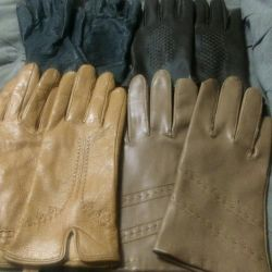 three pairs of gloves, almost new size 5