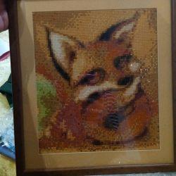 Mosaic fox cub