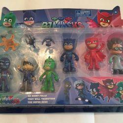 Maskeli kahramanlar. Aksesuarlı 6 kahraman