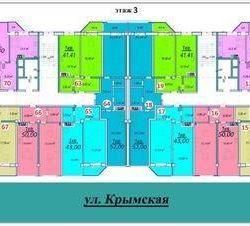 Apartament, 1 cameră, 52,7 m²