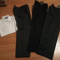 Ρούχα για αγόρι ηλικίας 12-14 ετών. Παντελόνια για σχολείο.