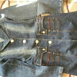 Плащ джинсовый