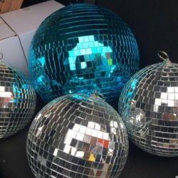 Зеркальные шарики Диско шары 20см 30см 60см