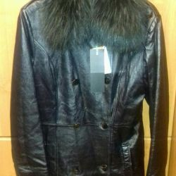 Coat leather, nat.mekh Le Monique