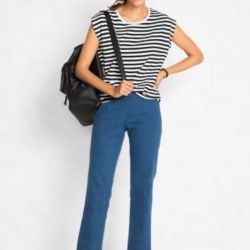 Jeans On the elastic waist 50р