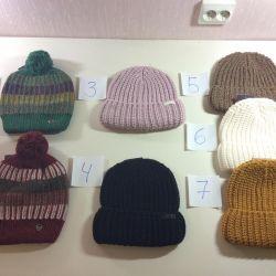 Нові в'язані шапки унісекс