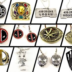 Souvenirs Jewelery Marvel - Tanos, Logan, Deadpool