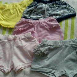Shorts, 5 pairs.