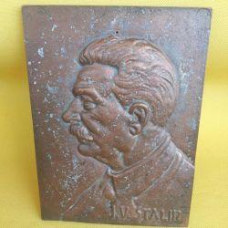 Bas-relief Stalin