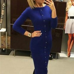 Blue dress-