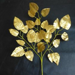 Branches (3pcs) with gold leaves