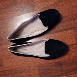 Kız için okul ayakkabısı, kullanılmış, siyah, boyut 37.5
