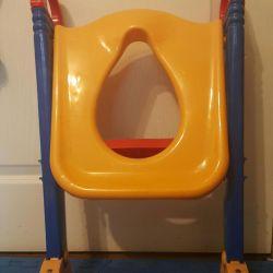 Çocuklar için tuvalet standı
