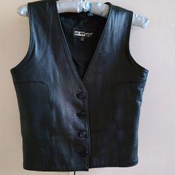 Vest leather 40 size