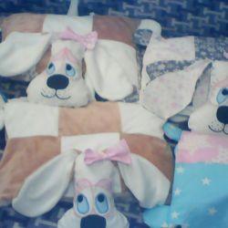Подушки-игрушки собаки