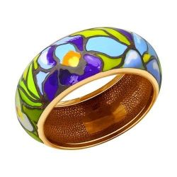 Ring made of gold silver with enamel