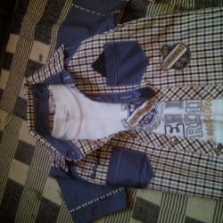 Коплект рубашка и футболка