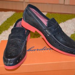 New moccasins Italy natural leather and nubuck