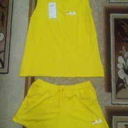Bright yellow suit, lightweight, new ...