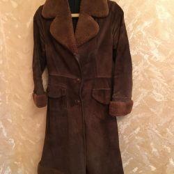 Sheepskin coat light autumn / spring 42-44 size