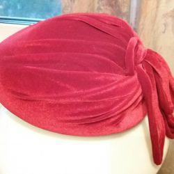 The hat is velvet.