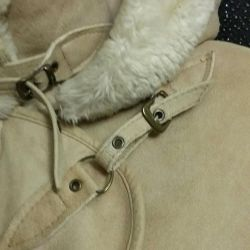 Stylish sheepskin coat