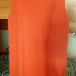 The dress is orange