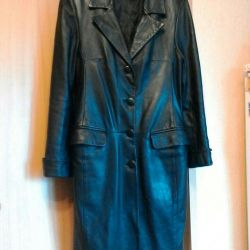 Δερμάτινο παλτό 46 μέγεθος