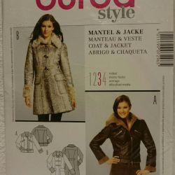 BURDA pattern coat, sheepskin coat, jacket