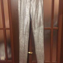 Pantaloni argintari Zara