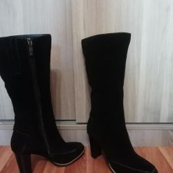 New boots from natural suede