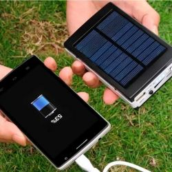 Power bank with charging from the sun.